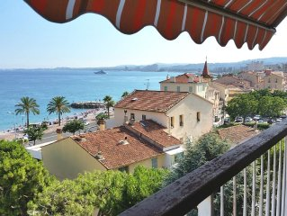 New in July 2016! Balcony facing the sea, three rooms (76m2), private parking