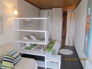 Confortable studio+véranda+terrasse VUE MER PLAGE Perros Guirec