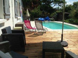 Maison au calme avec piscine privee vue unique sur le verdelet