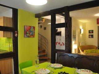 APPARTEMENT 4 P, charme de l'ancien, confort du neuf, decoration personnalisee.