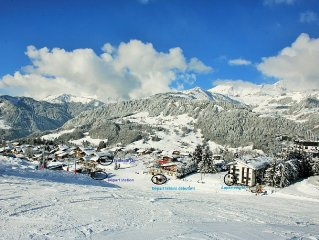 Luxury apartment on the slopes, close to Megeve