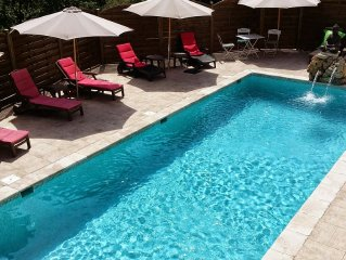 Villa calme  avec piscine -25 kms de la mer et a 60 kms  des Gorges du Verdon