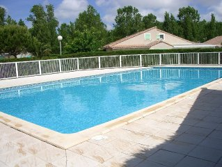 villa 250m mer et plage pour 6 p dans residence privee avec piscine