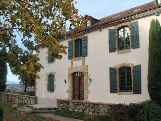 Maison Familiale Gers vue imprenable Pyrenees -10% SUR JUILLET