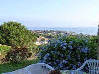 Magnifique vue mer avec terrasse à Sant'Ambroggio - Plage 10mn à pied