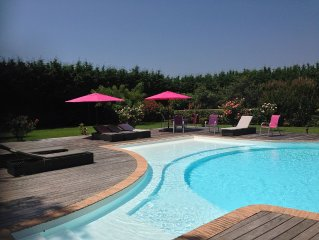 Villa de charme a OLMETO PLAGE - Piscine et grand jardin paysage - 1,3 km Plage