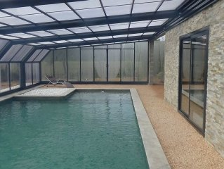 Countryside house - wildlife park - Covered heated swimming pool
