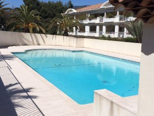 TOULON CAP BRUN T2 STANDING RESIDENCE PARK AND PRIVATE POOL NEAR BEACH