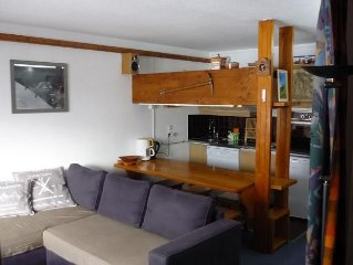 Apartment (4-5 seats) facing south to the slopes