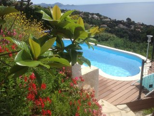 Villa avec piscine magnifique vue mer 180o