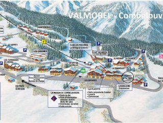Valmorel - Large luxurious apartment - ski in/ski out