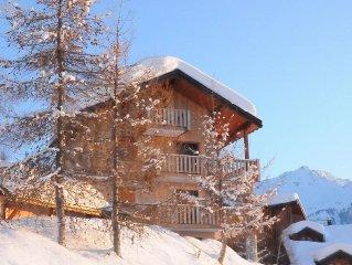Appartement skis aux pieds avec garage dans immeuble deux etages