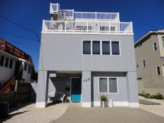 Nice 5 Bedroom House w/ Pool, 1 House From the Beach, Great Views- LBI