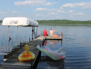 Cabin on Beautiful Johnson Lake, Marcell, MN - Family Friendly