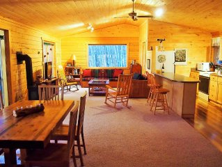 New Listing!  Storybook Log Cabin in an Aspen Grove with Finnish Sauna.  Views!