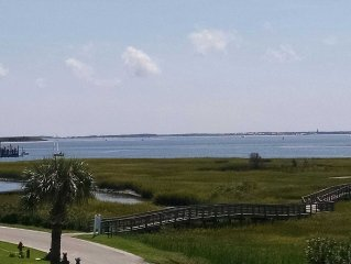 View from deck looking toward Bald Head Island