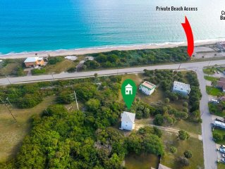 Ocean Views,Secluded 3 Story Home On 1/2 Acre of Palms.Contact Free Check In.