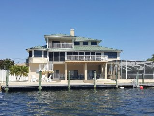 LUXURY HOME, 4 BED, 5 BATH,POOL, ON THE GULF, ELEVATOR, DOCK, 'THE OASIS'