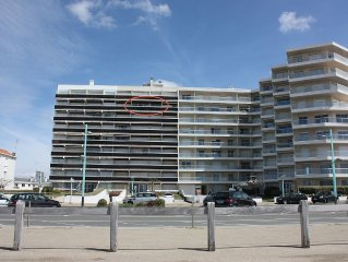 St JEAN DE MONTS - SUPERBE T2 LOUNGE 4P - FACE OCEAN BALCON & GARAGE