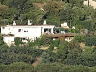 Californian-style house, 2 storeys,near St-Tropez,w/superb sea view & pool