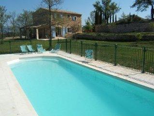 Colombelle mas provencal avec piscine en plein coeur du luberon vue panoramique