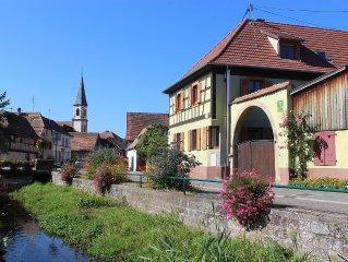 Confortable gîte rural prox. Obernai entre Strasbourg et Colmar route des vins