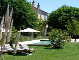 19th C. Farmhouse, Beautiful Pool & Garden, Nr Avignon/St-Remy