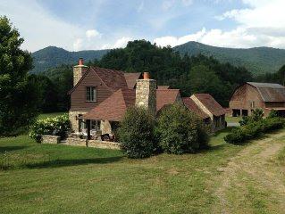 Luxurious Riverfront Mountain Home.