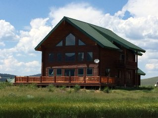 Yellowstone Log Home Directly On Beautiful Henrys Lake