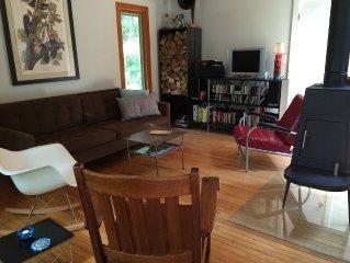 Stylish Bird Lovers Retreat On 10+ Wooded Acres + Modern Writer's Retreat Cabin