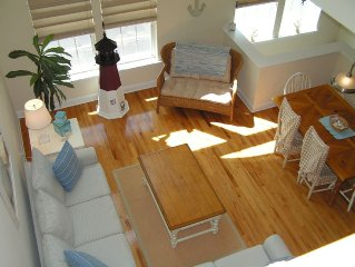 3 BR 2 CAR GARAGE SPACIOUS TOWNHOUSE-  STEPS TO THE BEACH/BOARDWALK W/OCEAN VIEW