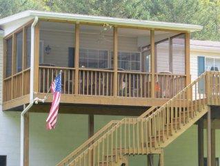 Juniata River Front Home w/ Screen Porch, Deck, F
