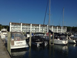 Foster Boat Works Waterfront Condo on Lake Charlevoix in Charlevoix, MI