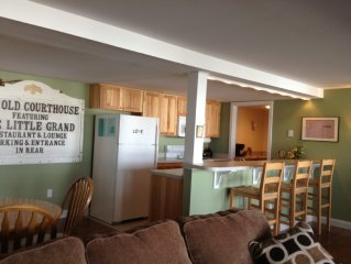 Condo In A Historical Courthouse In Beulah & Steps Away From Crystal Lake Beach