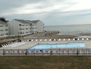 Condos Located on LAKE ERIE with beach, pool & in Port Clinton. Near Jet Express