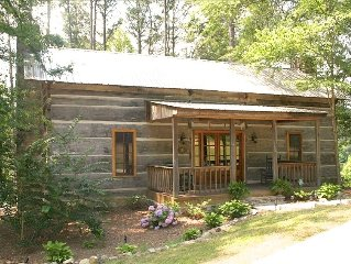 Looks Rustic But Luxury Awaits You at Two Cabins Lodge.  Lakefront with pool.