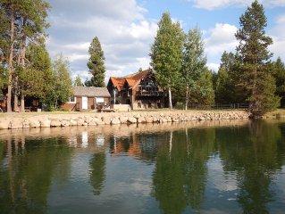 River front house. Bend, Sunriver. Ski, golf, fish