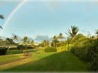 Gorgeous Greenbelt!  Home with beautiful mountain views & 5 min walk from beach!, location de vacances à Kauai