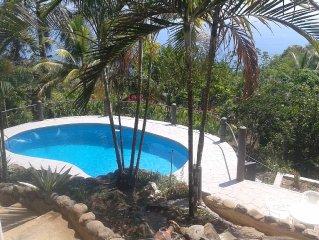 Epic home,  huge pool, AC, ocean views, 4 minute drive to Cosatanera!