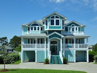 Luxury 6BR Indr/Outdr Pool, Elevator, Theater Rm, Views Corolla Light Resort