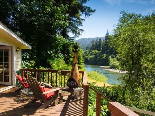 Riverfront Cottage in Sonoma Wine Country | Beach & River Access | Dog Friendly