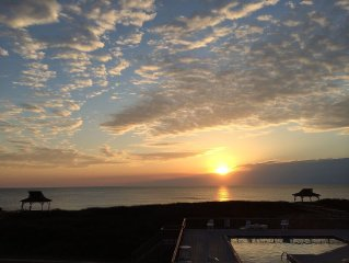 Oceanfront Condo - See Dolphins at Dawn from your deck!