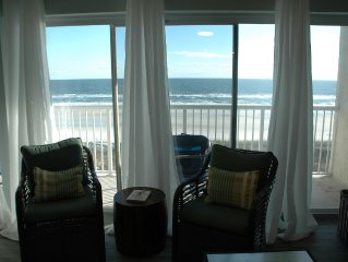 Upscale Oceanfront Condo with Amazing Views, Balcony and Quick Access to Beach