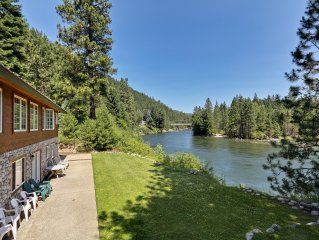 Alpine Pension ~ Your secluded family getaway, Riverfront, Hot tub