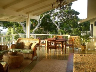 Beautiful Hawaiiana Estate Home--Spectacular Ocean View--Close to Everything