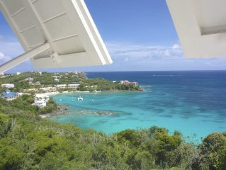 Seaglass at Stonehouse, Waterfront above Secret Hbr. Caribbean Style