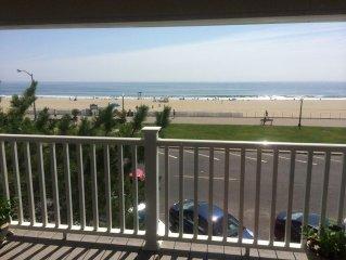Oceanfront Bradley Beach Apartment (near Avon, Spring Lake, Belmar)