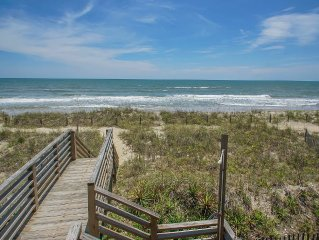 C~Kissed Ocean-Front, Vacation Home On Oak Island
