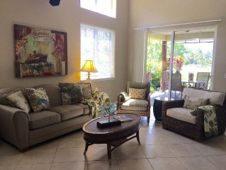 Luxury Pool Side Two Story Private Villa with beach, golf and bike amenities!