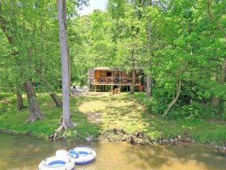 UNIQUE Private Island *** Cool Rustic Cabin on French Broad River